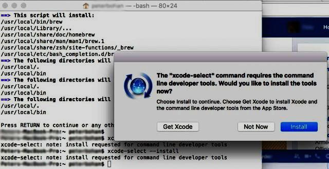 Install Homebrew without XCODE